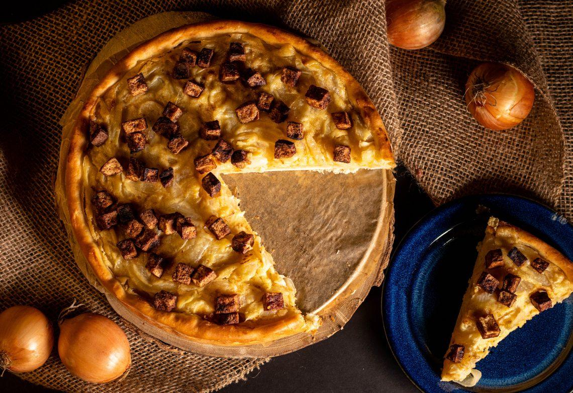 Klassiker in vegan: heute der Zwiebelkuchen